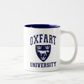 Oxfart University Crest Two-Tone Coffee Mug