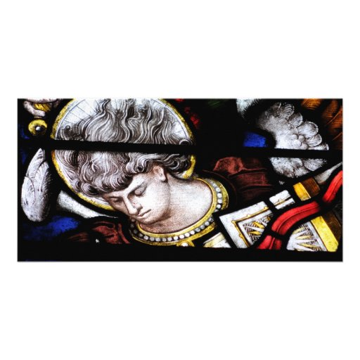 Oxford Cathedral Stained Glass Photo Greeting Card
