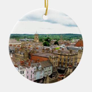 Oxford City Skyline Ceramic Ornament