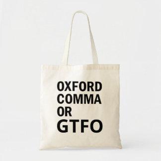 Oxford Comma or GTFO