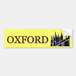 Oxford England 1986 Building Spirals Black Bumper Sticker