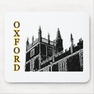 Oxford England 1986 Building Spirals Black Mouse Pads