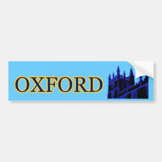 Oxford England 1986 Building Spirals Blue Bumper Sticker