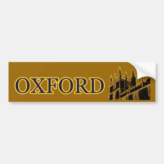 Oxford England 1986 Building Spirals Brown Bumper Sticker