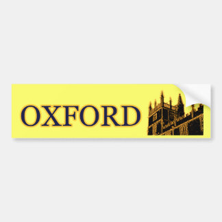 Oxford England 1986 Building Spirals Gold Bumper Sticker