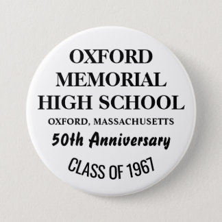 OXFORD HIGH 1967 7.5 CM ROUND BADGE