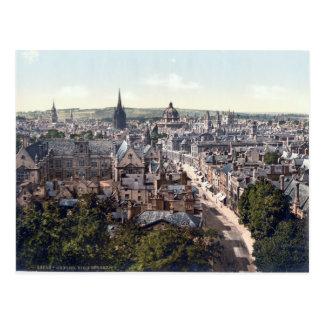 Oxford High Street, England panorama Postcard