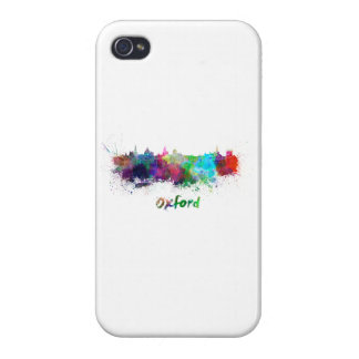 Oxford skyline in watercolor iPhone 4 case