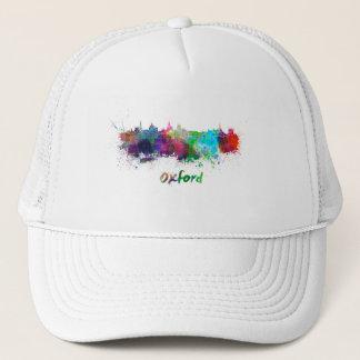 Oxford skyline in watercolor trucker hat