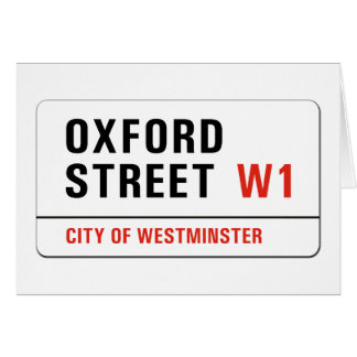 Oxford Street, London Street Sign Card