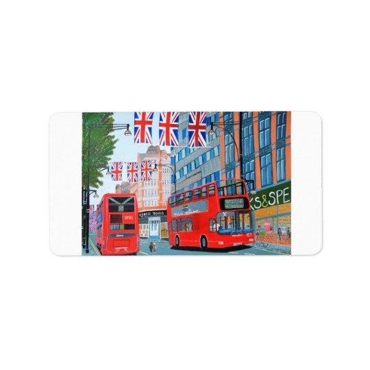 Oxford Street- Queen Dimond Jubilee label Address Label