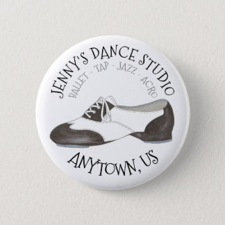 Oxford Tap Shoe Custom Dance Studio Tapper 6 Cm Round Badge