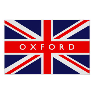 Oxford UK Flag Poster