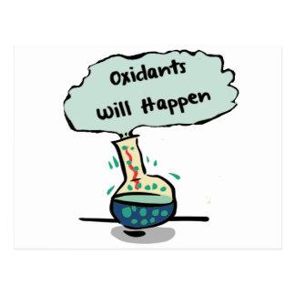 Oxidants Happen - Chemistry Humor Postcard