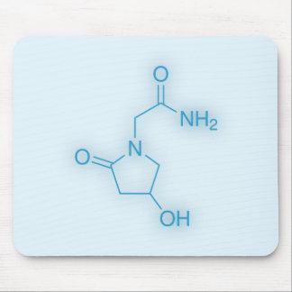 Oxiracetam Chemical Structure Blue Mousepad