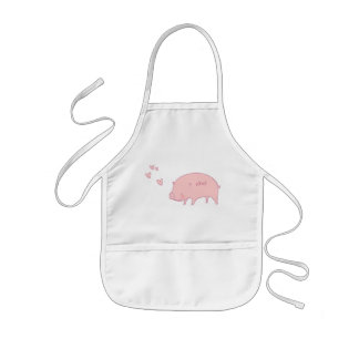 OXOX Pink Piggy Doodle Art Apron