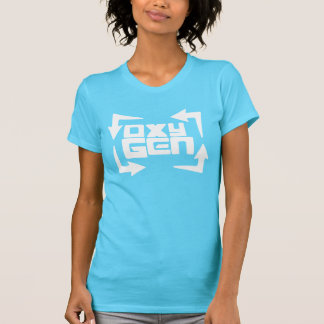 "oxyGEN Womens ""Quote"" Tee - Turquoise Edition"