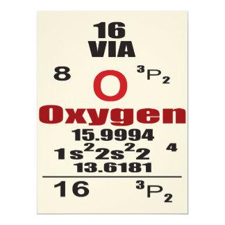 "Oxygentees Dorm Life Periodic Table 6.5"" X 8.75"" Invitation Card"