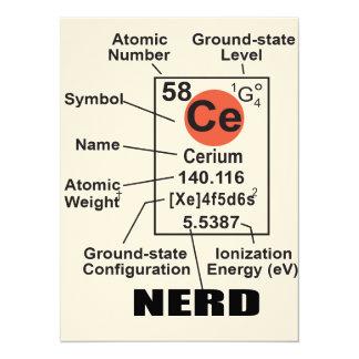 "Oxygentees Dorm Life Periodic Table 5.5"" X 7.5"" Invitation Card"