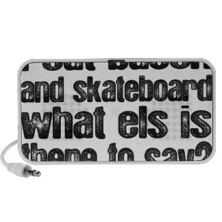 Oxygentees I Eat Bacon and Skateboard Portable Speaker