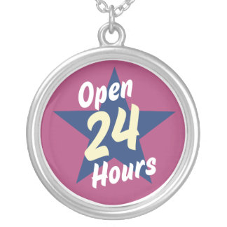 Oxygentees Open 24 Hours Necklace