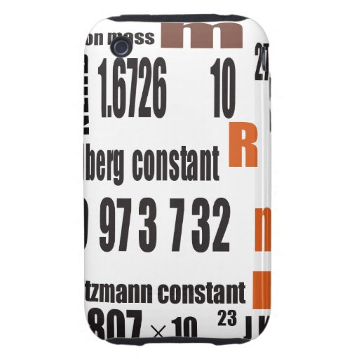 Oxygentees Periodic Table Tough iPhone 3 Cover