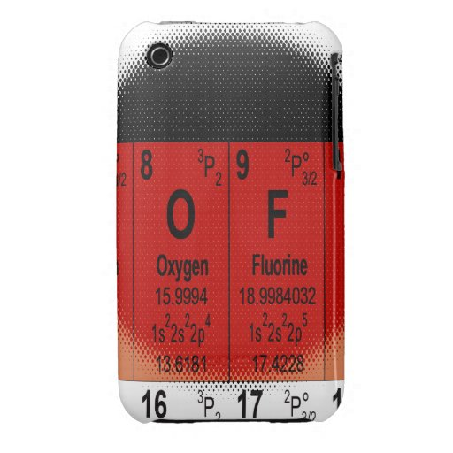 Oxygentees Periodic Table iPhone 3 Cases