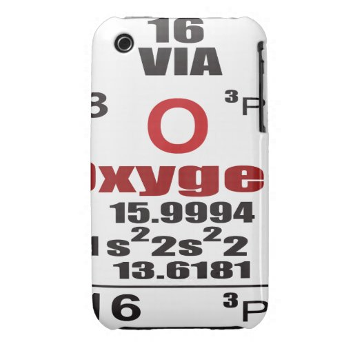 Oxygentees Periodic Table Case-Mate iPhone 3 Cases