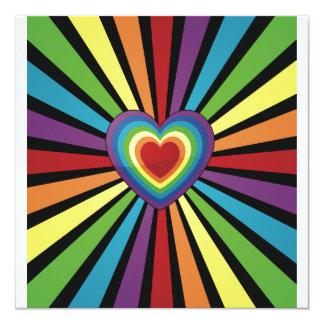 Oxygentees Rainbow Heart Invites