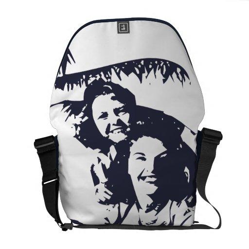 Oxygentees  Surfs Up Hawaiian Style Vintage Messenger Bags