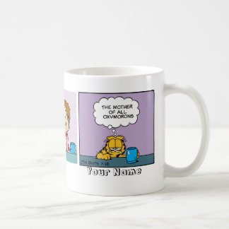 """Oxymorons"" Garfield Comic Strip Coffee Mug"