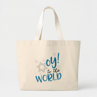 Oy to the World Large Tote Bag