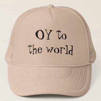 OY to the world Yiddish Jewish  hat