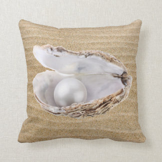 Oyster and Pearl Cushion