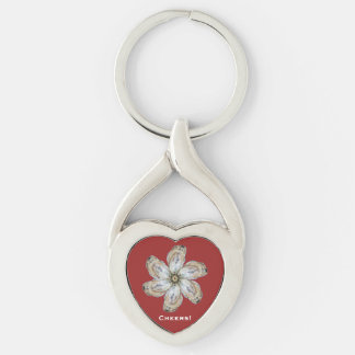 Oyster Flower Keychain - Design A Red
