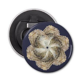 Oyster Flower Magnet Bottle Opener - Design B