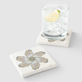 Oyster Flower Marble Coaster - Design A