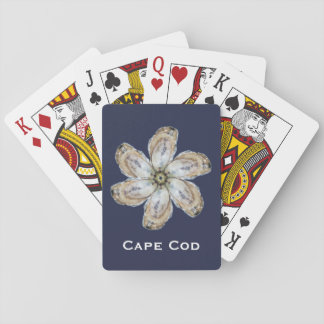 Oyster Flower Playing Cards - Design A Blue