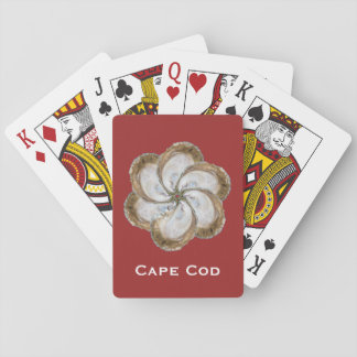 Oyster Flower Playing Cards - Design C Red