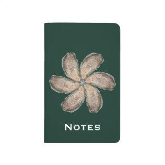 Oyster Flower Pocket Journal - Design D Green