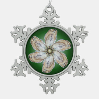 Oyster Flower Snowflake Ornament - Design A Green