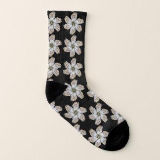 Oyster Flower Socks - Design A Black