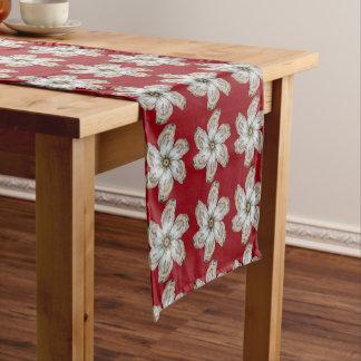 Oyster Flower Table Runner - Design A Red