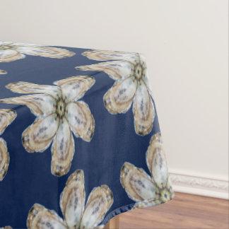 Oyster Flower Tablecloth - Design A blue