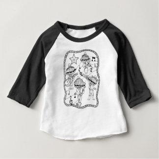 Oyster Mariachi Band Line Art Design Baby T-Shirt