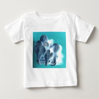 Oyster Mushrooms in Blue Baby T-Shirt