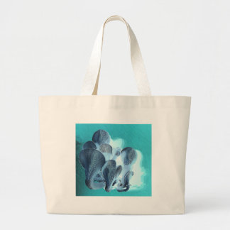 Oyster Mushrooms in Blue Large Tote Bag
