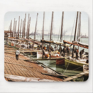 Oyster Smacks at the Levee New Orleans 1900 Mouse Pad