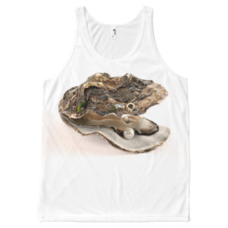 OYSTER WITH PEARL All-Over PRINT SINGLET