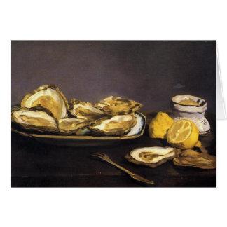 Oysters - Édouard Manet Card